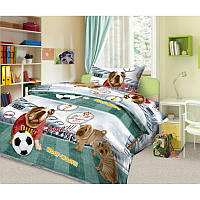 Комплект постельного белья Золотой гол 3Д, подростковый