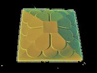 """Крышка для забора LAND BRICK """"луска"""" желтая 450х450 мм"""