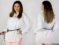 Белая блуза 1403366, большого размера