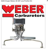Набор вертикальный карбюратор WEBER 40 IDF + коллектор + фильтр для VW (сделано в Испании), фото 1