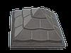 """Крышка для забора LAND BRICK """"пирамида"""" серая 450х450 мм"""