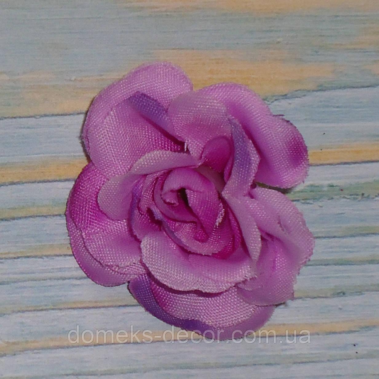 Головка мини розы сиреневая