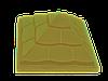 """Крышка для забора LAND BRICK """"пирамида"""" желтая 450х450 мм"""