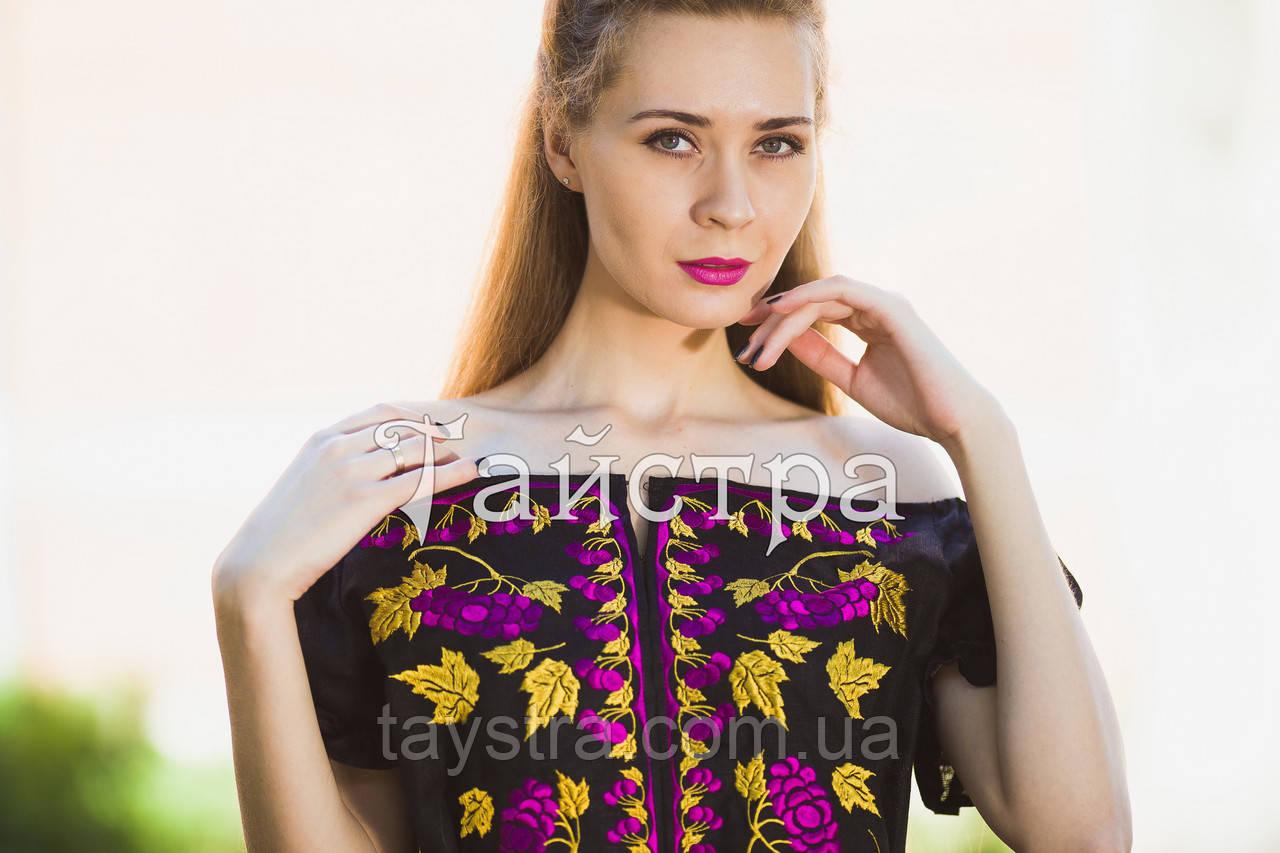 Стильное вечернее платье бохо вышиванка лен, этно, стиль бохо шик, вишите плаття вишиванка,выпускное платье