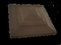 """Крышка для забора LAND BRICK """"карпаты"""" коричневая 500х500 мм"""