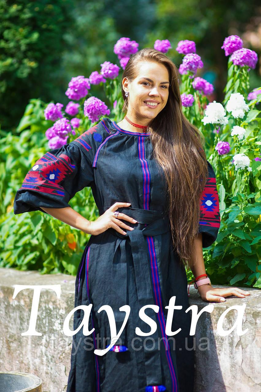 Платье женское бохо вышиванка лен, этно, стиль бохо шик, вишите плаття вишиванка, Bohemian,стиль Вита Кин