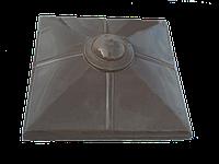 "Крышка для забора LAND BRICK ""малый шар"" коричневая 450х450 мм"