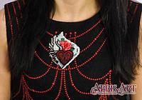 """Набор для вышивки бисером украшения на натуральном холсте Паттернхолст """"Тайны сердца """""""