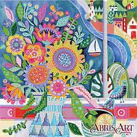 Схема для вышивки бисером «Цветы у моря»