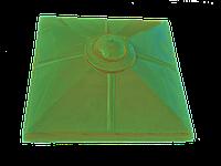 """Крышка для забора LAND BRICK """"малый шар"""" желтая 450х450 мм"""