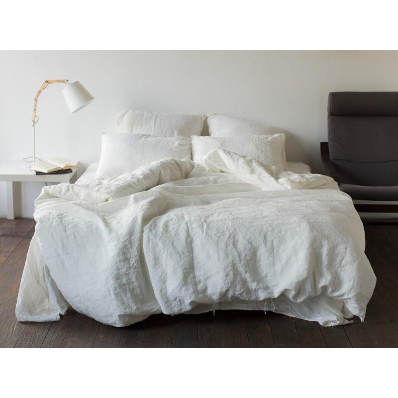 Постельное белье лен Белый ТМ Царский дом  (Полуторный)