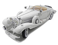 Автомодель Maisto 1:18 Mercedes-Benz 500 K Typ Specialroadster (1936) Macharadga Белый (36055)