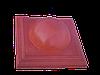 """Крышка для забора LAND BRICK """"большой шар"""" красная 450х450 мм"""