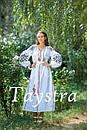Платье женское лен выпускное, лен,бохо шик,вишите плаття,этно,свадебное вышитое платье, фото 4