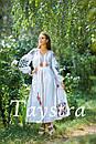 Платье женское лен выпускное, лен,бохо шик,вишите плаття,этно,свадебное вышитое платье, фото 5