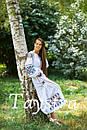 Платье женское лен выпускное, лен,бохо шик,вишите плаття,этно,свадебное вышитое платье, фото 3