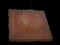 "Крышка для забора LAND BRICK ""большой шар"" коричневая 450х450 мм"