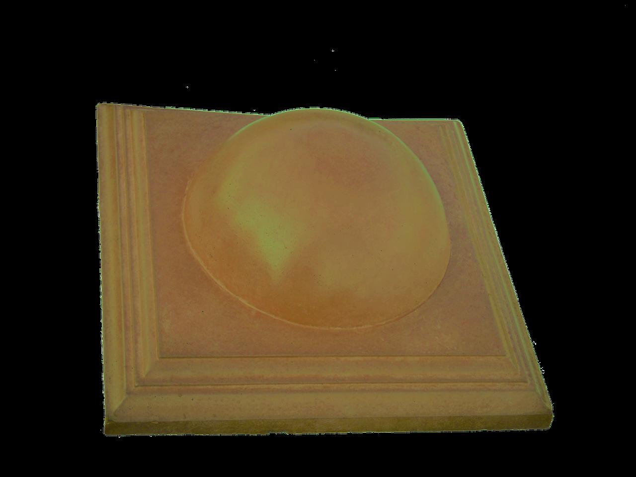 """Крышка для забора LAND BRICK """"большой шар"""" желтая 450х450 мм"""