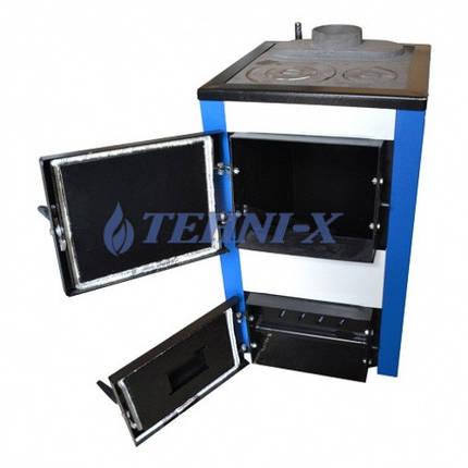 Котел твердотопливный TEHNI-X КОТВ-18-УП длительного горения, фото 2