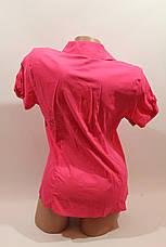 Женская рубашка однотонная с коротким рукавом Cat., ML, фото 3