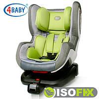 Автокресло (0+/1)0-4 года (0-18 кг) • Крепление IsoFix 4baby - Neo-Fix (6 цветов)Green