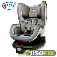 Автокресло (0+/1)0-4 года (0-18 кг) • Крепление IsoFix 4baby - Neo-Fix (6 цветов)Grey
