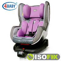 Автокресло (0+/1)0-4 года (0-18 кг) • Крепление IsoFix 4baby - Neo-Fix (6 цветов)Purple