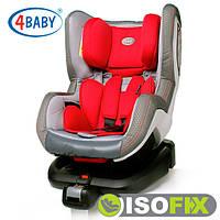 Автокресло (0+/1)0-4 года (0-18 кг) • Крепление IsoFix 4baby - Neo-Fix (6 цветов)Red