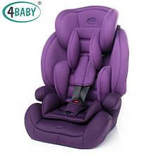 Детское Автокресло (1/2/3) Вес 9-36 кг 9 мес-11 лет 4baby - Aspen (6 цветов)Purple