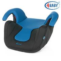 Детское Автокресло бустер  (2/3) (15-36 кг) 4baby - Dino (7 цветов)Blue