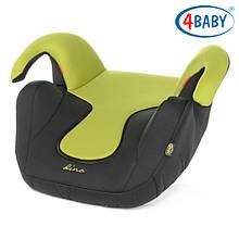 Детское Автокресло бустер  (2/3) (15-36 кг) 4baby - Dino (7 цветов)Green
