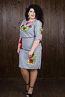 Вышитое платье с цветами для женщин 4510