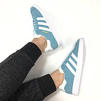 "Кроссовки Adidas Gazelle ""Blue/White"""