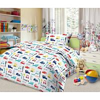Ткань для детского постельного белья, поплин Уступи дорогу