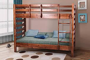 Двухъярусная детская кровать  из массива сосны Троя Микс мебель, цвет на выбор, фото 2