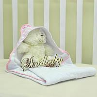 Детское махровое полотенце с уголком - 01
