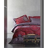 Постельное белье Karaca Home - Mira красное сатин евро