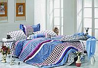 Евро комплект постельного белья Кубик