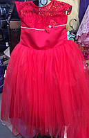Нарядное платье в пол для девочки  на 5-8 лет