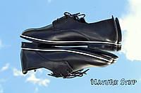 Женские классические туфли на шнурках натуральная кожа