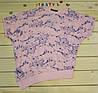 Модная футболка Летучая мышь розовая   на девочку рост 128-164