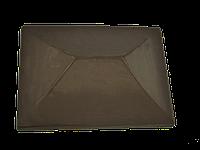 "Крышка для забора LAND BRICK ""китай"" коричневая 450х450 мм"