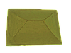 "Крышка для забора LAND BRICK ""китай"" желтая 450х450 мм"