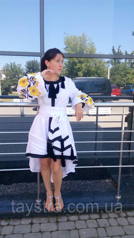 Стильное платье женское бохо вышиванка лен, этно, стиль бохо шик, вишите плаття вишиванка, Bohemian