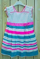 Милое платье для девочки Маша неон   рост 98-128