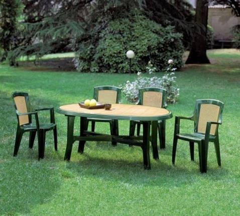 Стол садовый Danubio Wood 165х110, фото 2