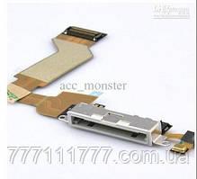 Шлейф с гнездом зарядки на iPhone 4S Charging Dock Connector Flex White белый