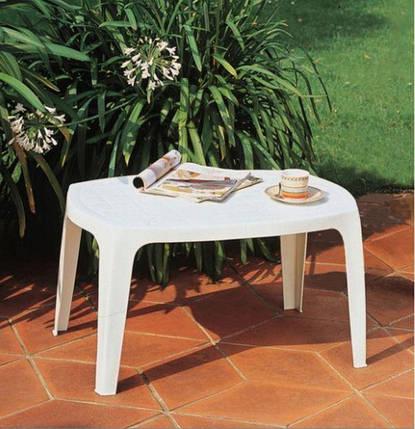 Стол садовый Mito 77х50х43 белый, фото 2