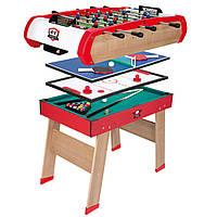 """Деревянный полупрофессиональный стол """"Power Play 4 в 1"""" Smoby - Франция - имеет четыре переменные игровые пове"""