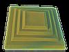 """Крышка для забора LAND BRICK """"каскад"""" желтая 400х400 мм"""